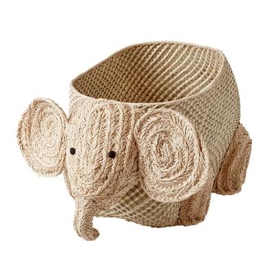 PANIER RAPHIA ELEPHANT