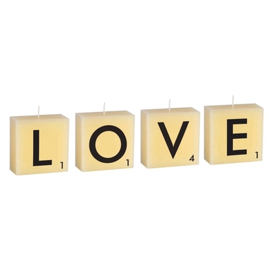 BOUGIES 4 LETTRES LOVE