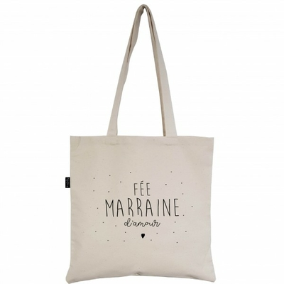 SAC TOTE BAG FEE MARRAINE D'AMOUR