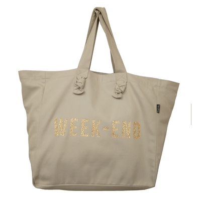 SAC CABAS WEEK-END PAILLETTES DOREES