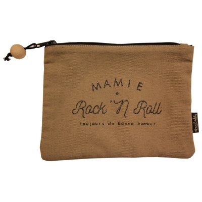 POCHETTE MAMIE ROCK AND ROLL PAILLETTES DOREES