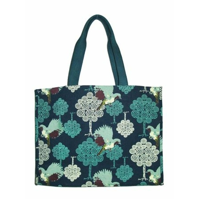 SAC CABAS COTON MOTIF BIRD ATLANTIC