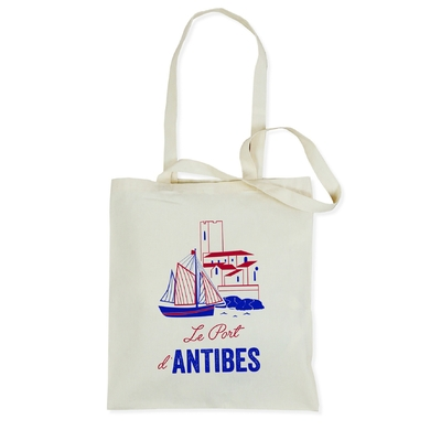 SAC TOTE BAG LE PORT D'ANTIBES