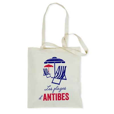 SAC TOTE BAG LES PLAGES D'ANTIBES