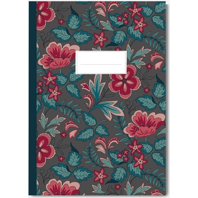 CAHIER FORMAT A5 MOTIF COQUELICOTS