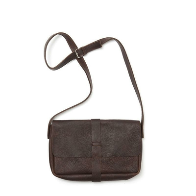 SAC PICKING FLOWERS CUIR SOUPLE MARRON