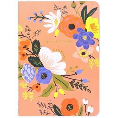 CAHIER FORMAT A5 LIVELY FLORAL ROSE