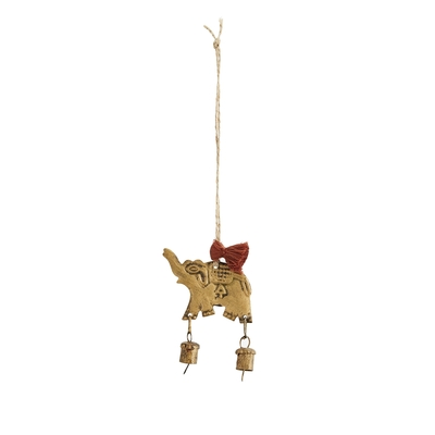 DECORATION SUSPENDUE ELEPHANT CLOCHETTES