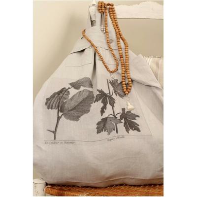 sac lin lave les feuilles au coloris gris bleute fabrique en france. Black Bedroom Furniture Sets. Home Design Ideas