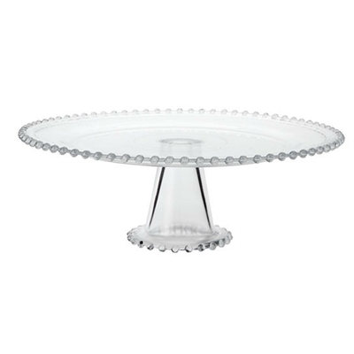 PLAT A GATEAUX TRANSPARENT 26CMS
