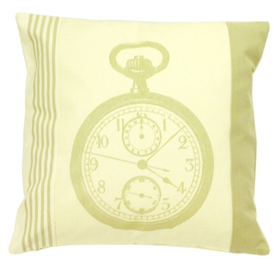 COUSSIN SERIGRAPHIE MONTRE BEIGE