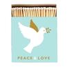 HISTOIRE DAVANT BOITE GRANDES ALLUMETTES  PEACE AND LOVE