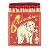 HISTOIRE DAVANT BOITE ALLUMETTES EXTRA LARGES ELEPHANT