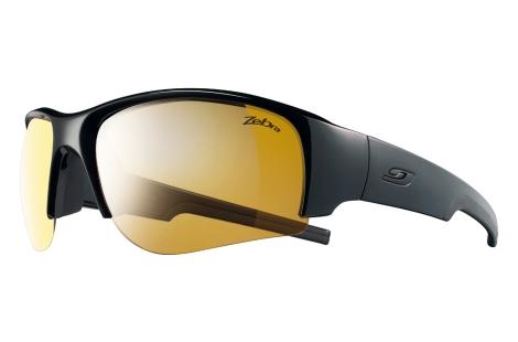 lunettes julbo pour trail running vtt Dust noir-noir zebra