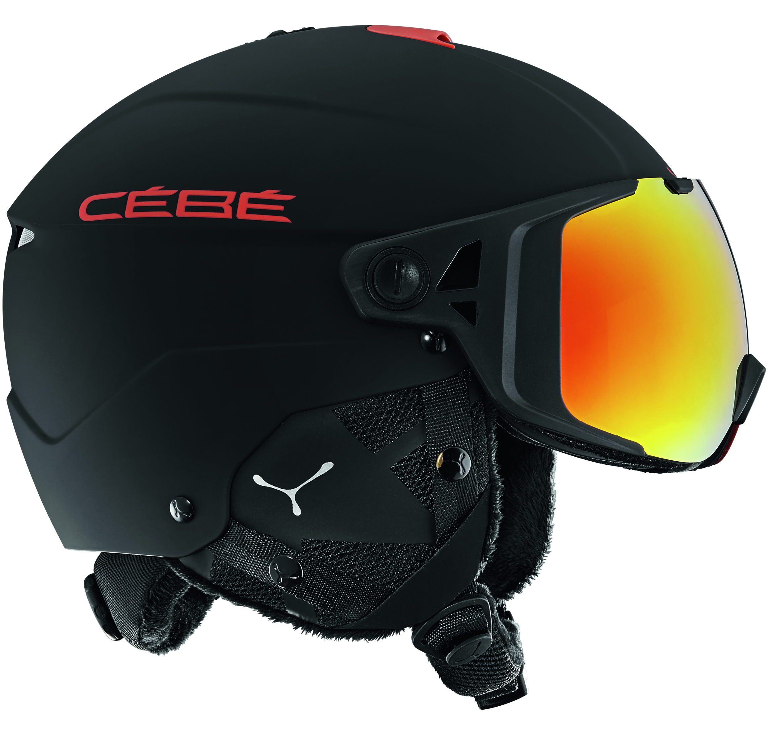 casque de ski visiere interchangeable cebe element visor. Black Bedroom Furniture Sets. Home Design Ideas