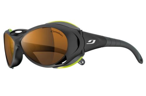 lunettes julbo Explorer noir-vert verres cameleon polarisant