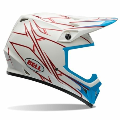 BELL MX 9 Pinned white