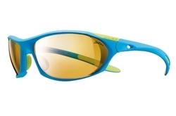 lunettes de trail julbo Race bleu-vert zebra