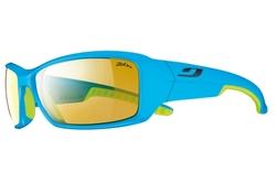 lunettes de velo Run bleu vert zebra