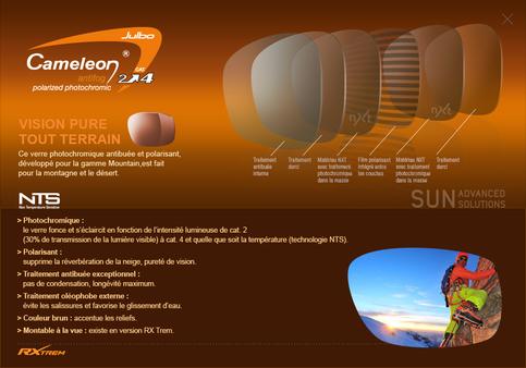 caracteristique du verre julbo cameleon