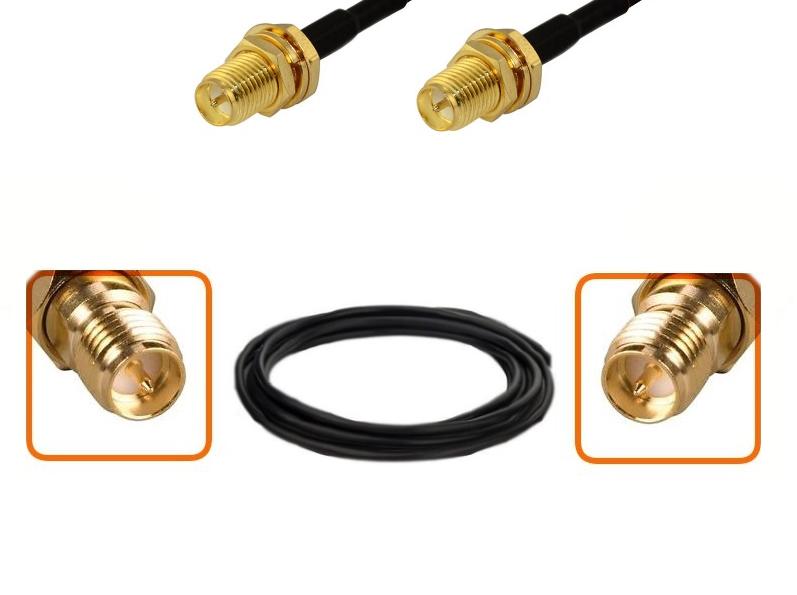 C ble rp sma femelle et rp sma femelle diam tre 6 mm for Pont wifi exterieur