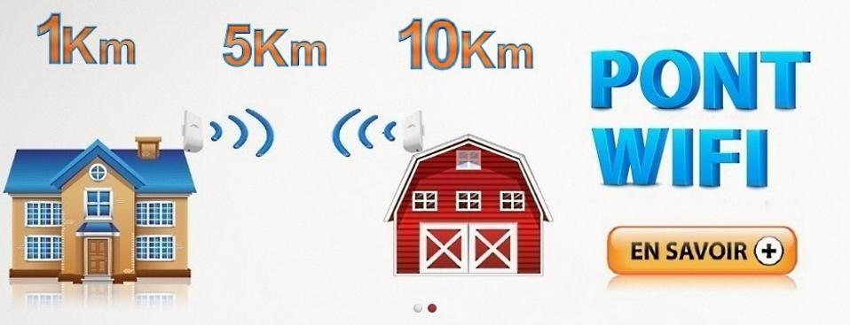 Partage connexion wifi et acc s internet box for Pont wifi exterieur