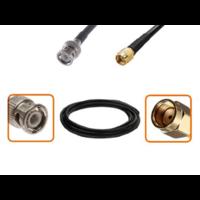 Câble BNC mâle et RP-SMA mâle diamètre 6 mm longueur 1 à 12 mètres