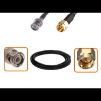 Câble BNC mâle et SMA mâle diamètre 6 mm longueur 1 à 12 mètres