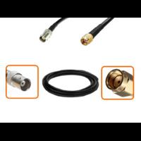 Câble BNC femelle et RPSMA mâle diamètre 6 mm longueur 1 à 12 mètres