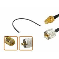 Câble longueur 10 cm à 90 cm SMA femelle vers UHF PL 259 mâle