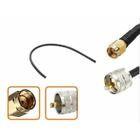 Câble longueur 10 cm à 90 cm RP-SMA mâle vers UHF PL 259 mâle