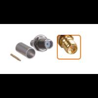 Connecteur RP-SMA femelle à sertir pour câble coaxial 5.4 mm à 6.1mm