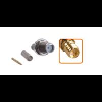 Connecteur RP-SMA femelle à sertir pour câble coaxial 2.7mm