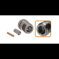 Connecteur N femelle à sertir pour câble coaxial 5.4 mm à 6.1mm