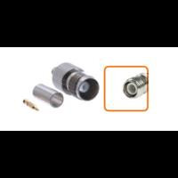Connecteur RP-TNC femelle à sertir pour câble coaxial 5.4 mm à 6.1mm