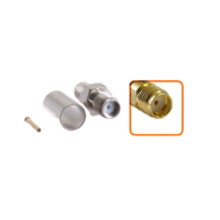 Connecteur SMA femelle à sertir pour câble coaxial 5.4mm à 6.1mm