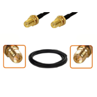 Câble RP-SMA femelle et RP-SMA femelle diamètre 6 mm longueur 1 à 12 mètres