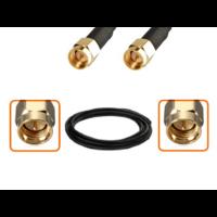 Câble SMA mâle et SMA mâle diamètre 6 mm longueur 1 à 12 mètres