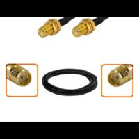 Câble SMA femelle et SMA femelle diamètre 6 mm longueur 1 à 12 mètres