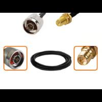Câble N mâle et RP-SMA femelle diamètre 6 mm longueur 1 à 12 mètres 2.4Ghz 5 Ghz