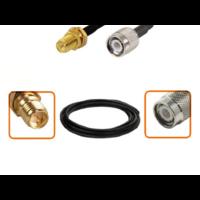 Câble RP-SMA femelle et TNC mâle diamètre 6 mm longueur 1 à 12 mètres