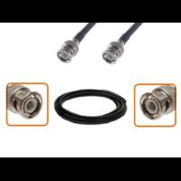 Câble BNC mâle et BNC mâle diamètre 6 mm longueur 1 à 12 mètres