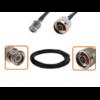 Câble BNC mâle et N mâle diamètre 6 mm longueur 1 à 12 mètres