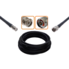 Câble haute qualité BNC mâle et N mâle diamètre 10.30 mm longueur 1 à 30 mètres