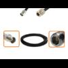Câble BNC femelle et N femelle diamètre 6 mm longueur 1 à 12 mètres