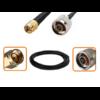 Câble RP-SMA mâle et N mâle diamètre 6 mm longueur 1 à 12 mètres