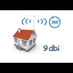 Point d'accès WiFi extérieur avec antenne 9 dbi angle de 360 degrés