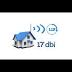 Point d'accès WiFi extérieur avec antenne 17 dbi angle à 120 degrés