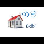 Point d'accès WiFi extérieur avec antenne 8 dbi angle de 60 degrés