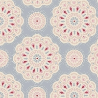 Tissu Doilies light blue